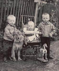 1920, Farm Children, Westerwald, Germany