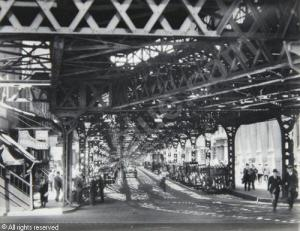 Under the El at the Battery, Berenice Abbott