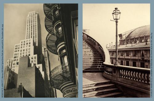 New York City 1930s, Berenice Abbot (left) and Paris 1860s, Charles Marville (right)