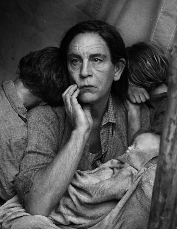 Dorothea langes migrant mother sandro miller 2014
