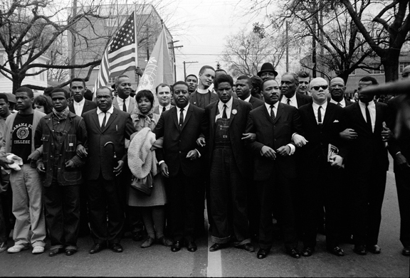 Martin Luther King Jr. and Group Entering Montgomery, 1965, Steve Shapiro