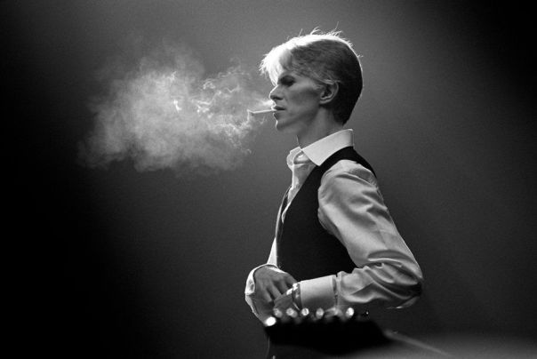 Andrew kent david bowie thin white duke 1976 gelatin silver print image via peter fetterman gallery